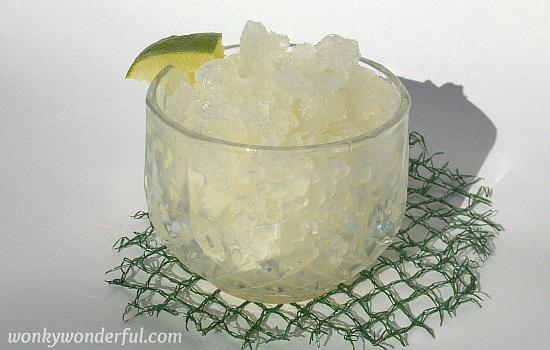 coconut lime granita - wonkywonderful.com
