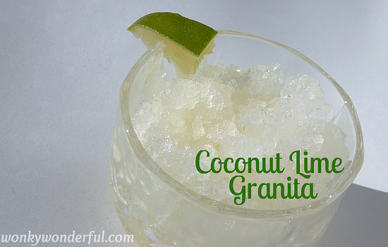 Coconut Lime Granita