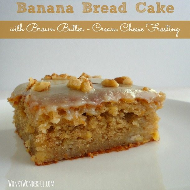 Banana Bun Cake Made With With Coconut Flour