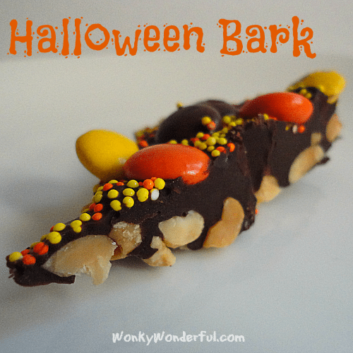 #Halloween #Chocolate Bark #Recipe - wonkywonderful.com