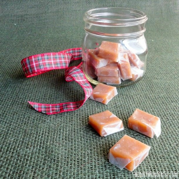 Spiced Apple Cider Vinegar Caramels