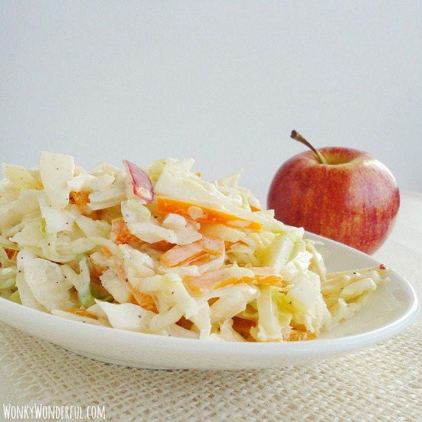 Creamy Apple Cabbage Coleslaw Recipe