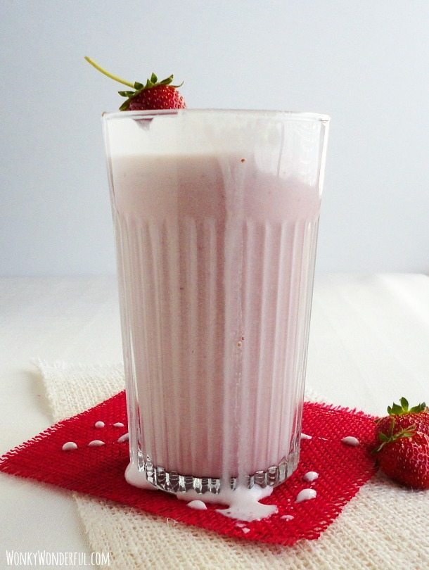 Strawberry Malted Milk Recipe ::: wonkywonderful.com