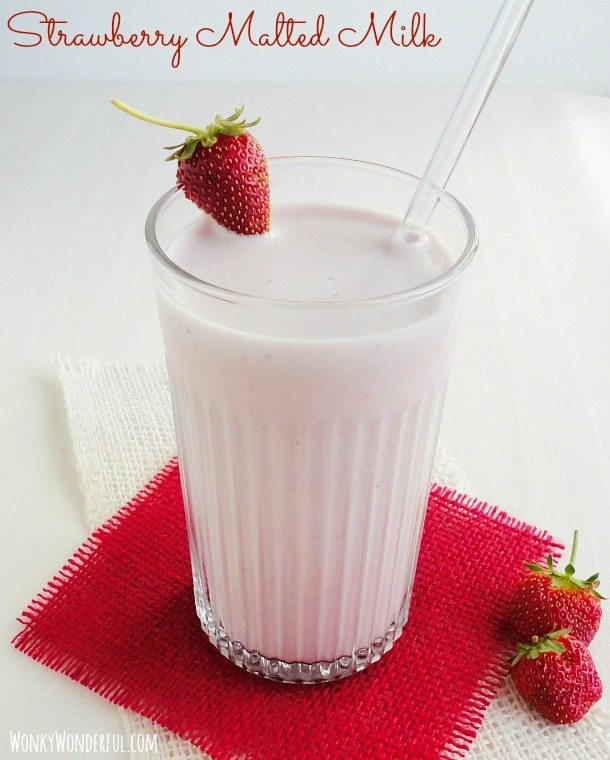 Strawberry Malted Milk Recipe ::: wonkywonderful.com