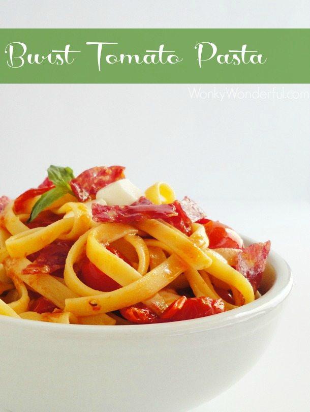 Burst Tomato Pasta ::: wonkywonderful.com #pasta