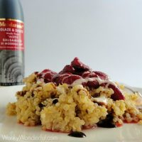 Roasted Strawberry Quinoa with Balsamic Glaze