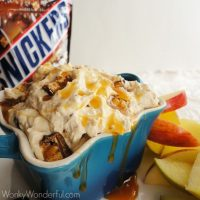 Creamy Snickers Dip