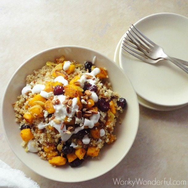 Gluten Free Vegetarian Pumpkin Quinoa Bowl