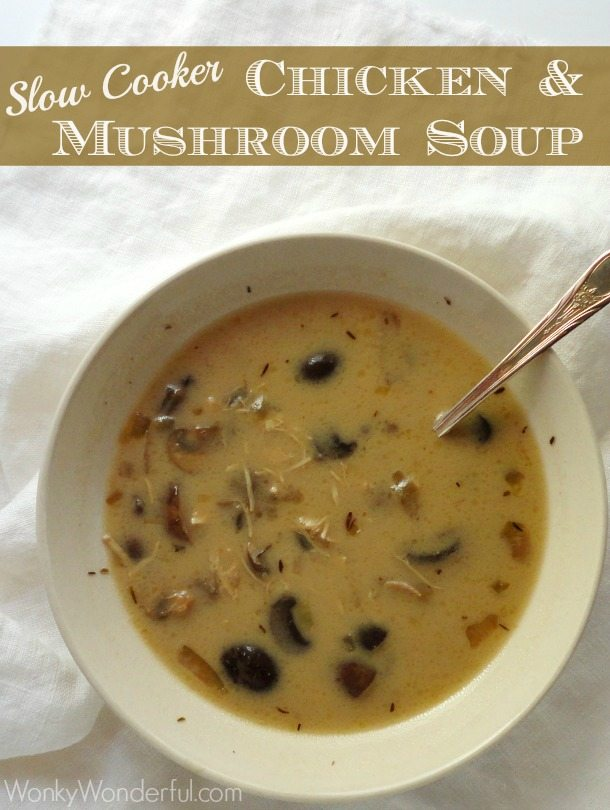 Slow Cooker Recipe - Chicken and Mushroom Soup
