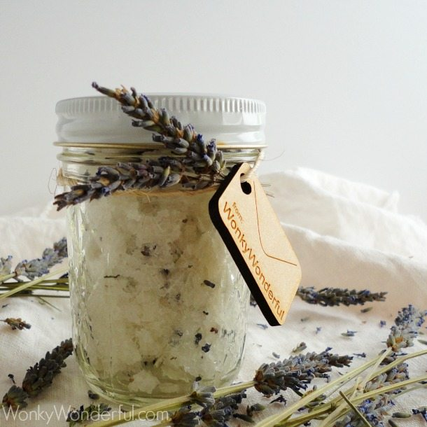 How To Make Lavender Sugar Homemade Body Scrub Recipe wonkywonderful.com