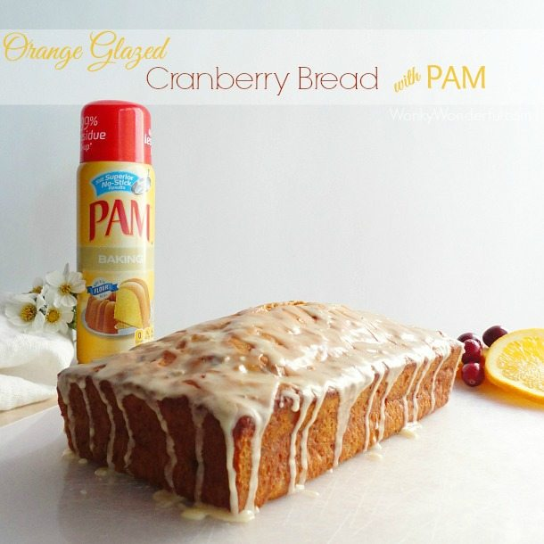 Orange Glazed Cranberry Bread Recipe - wonkywonderful.com - #PAMSmartTips