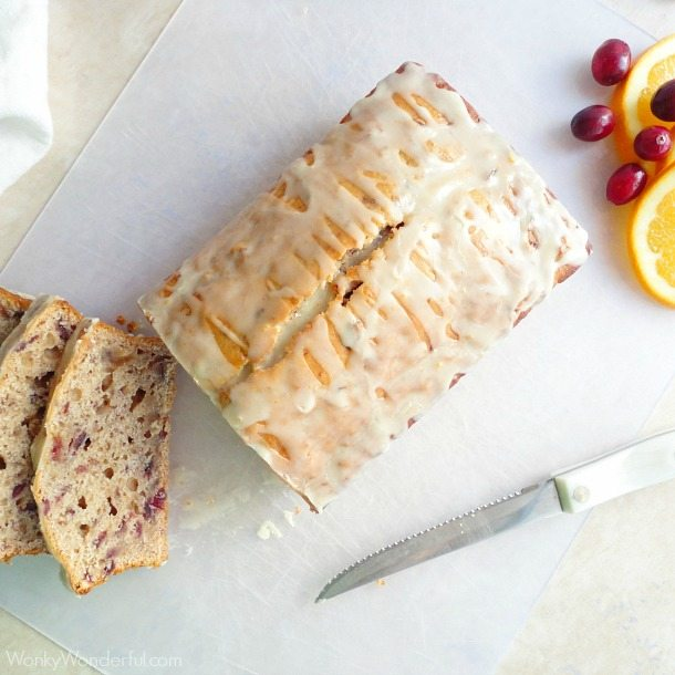 Orange Glazed Cranberry Bread Recipe - wonkywonderful.com
