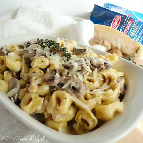 Mushroom Cream Sauce Recipe with Tortellini