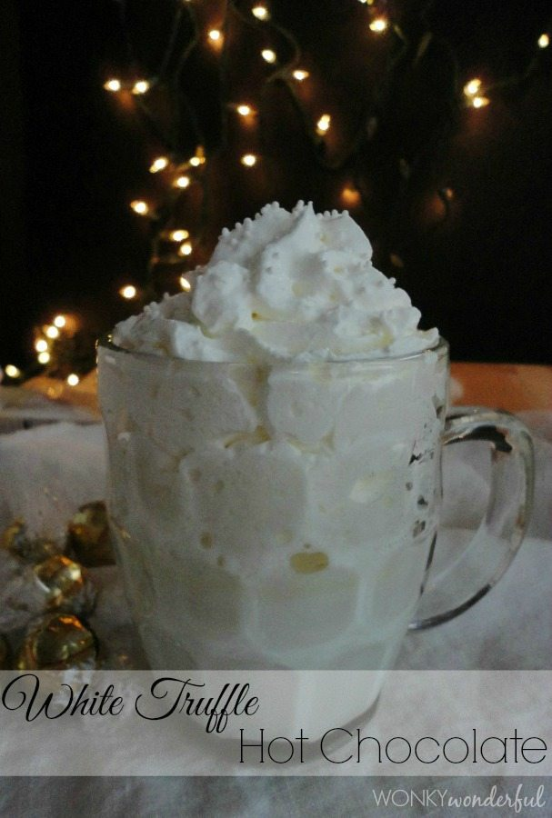 White Truffle Hot Chocolate Recipe - hot cocoa - white chocolate - wonkywonderful.com