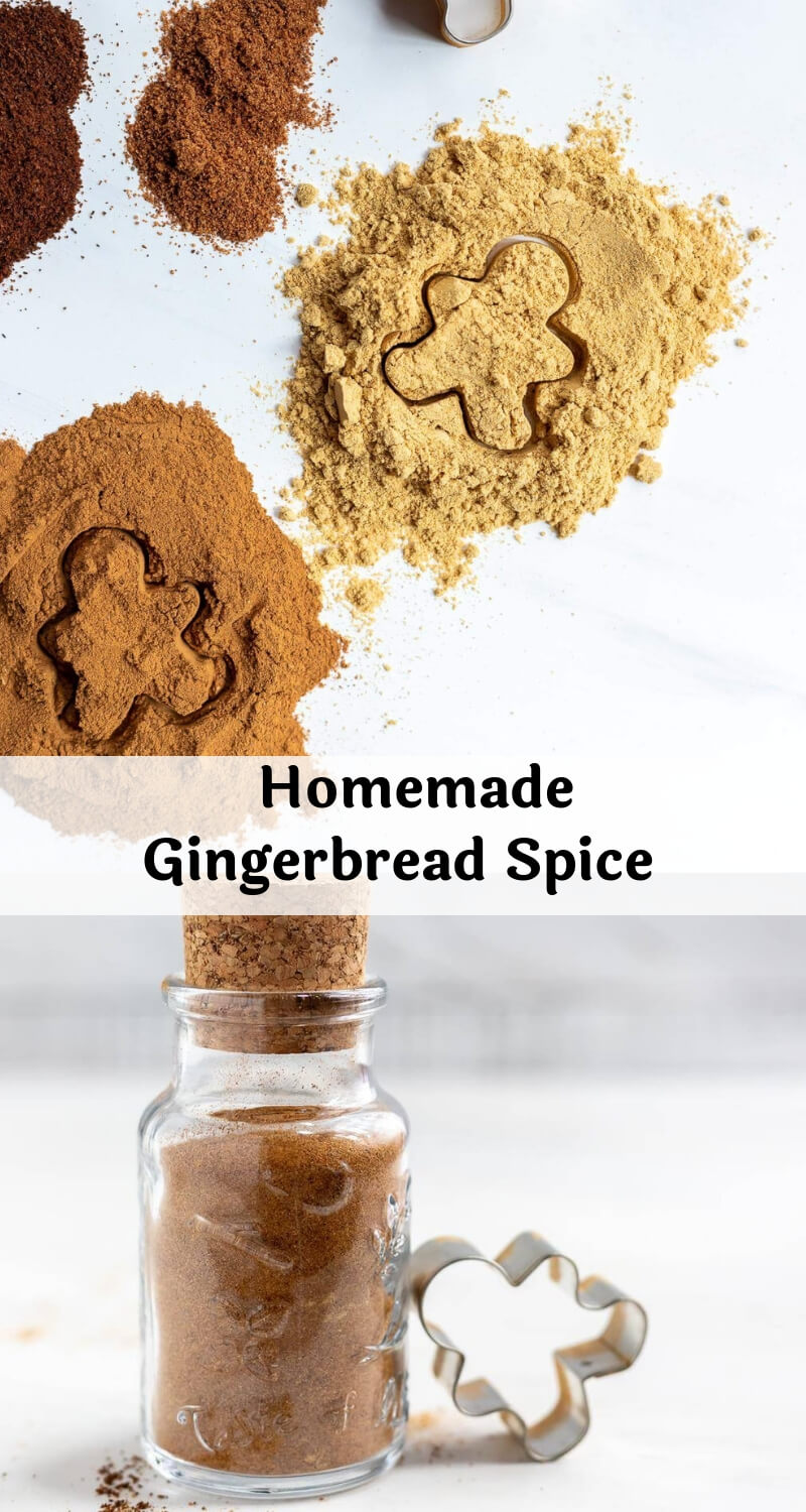 homemade gingerbread spice mix recipe photo collage