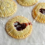 Nutella and Cherry Hand Pies - Valentine's Day Dessert Recipe - Pie - wonkywonderful.com