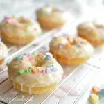 Baked Donut Recipe - Vanilla and Sweet Hearts - Valentine's Day Breakfast - doughnuts - wonkywonderful.com