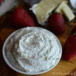 White Chocolate Whipped Cream Dip - Dessert Dip Recipe - Fruit Dip - 2 Ingredients - wonkywonderful.com