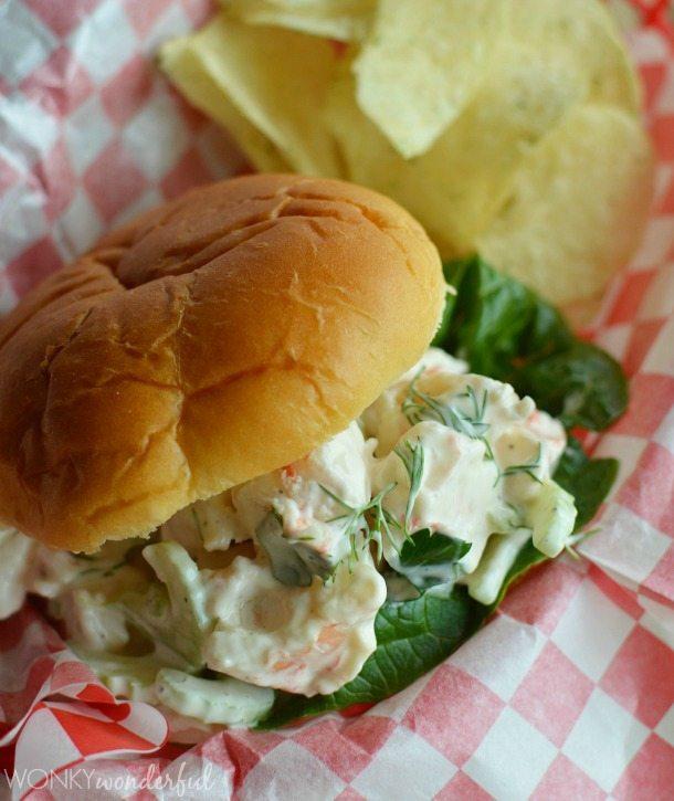 Spicy Shrimp Roll Sandwich Recipe - wonkywonderful.com