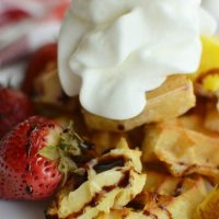 Grilled Fruit & Waffles