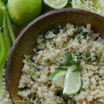 Cilantro Lime Quinoa - gluten free recipe - wonkywonderful.com