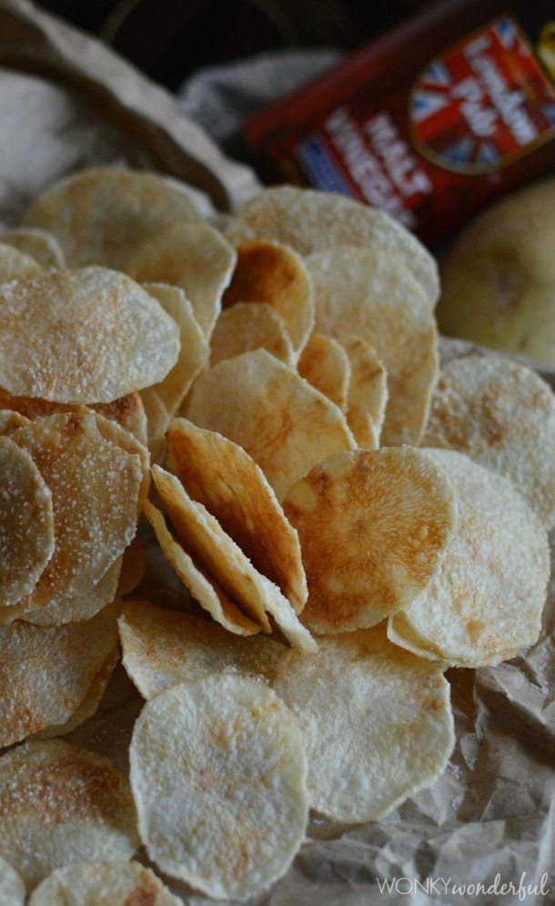Microwave Potato Chips Salt & Vinegar Flavor - Yep, crispy chips made in the microwave! wonkywonderful.com