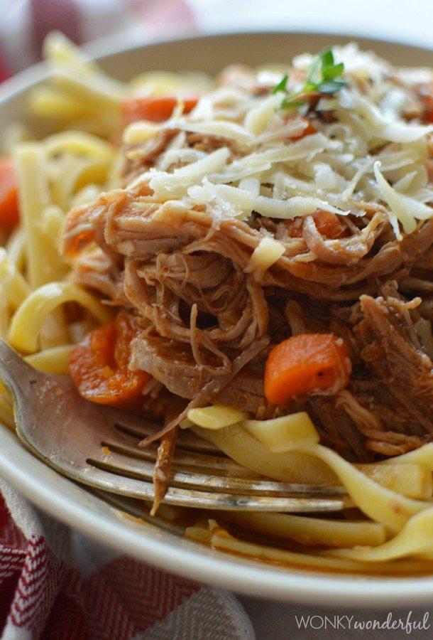 Slow Cooker Pork Ragu Recipe - Easy Dinner - wonkywonderful.com