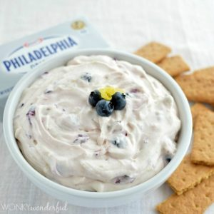 Lemon Blueberry Cheesecake Dip
