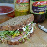 Vegetable Greek Sandwich with Creamy Feta Spread : healthy vegetarian lunch