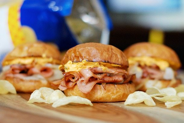 Three-Fried-Bologna-Sandwiches-featuring-Trader-Joes-Pub-Cheese-and-Brioche-Rolls-800px