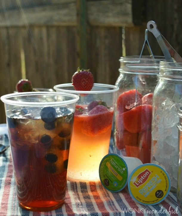 Strawberry lemonade and blueberry tea with keurig for California iced tea recipe