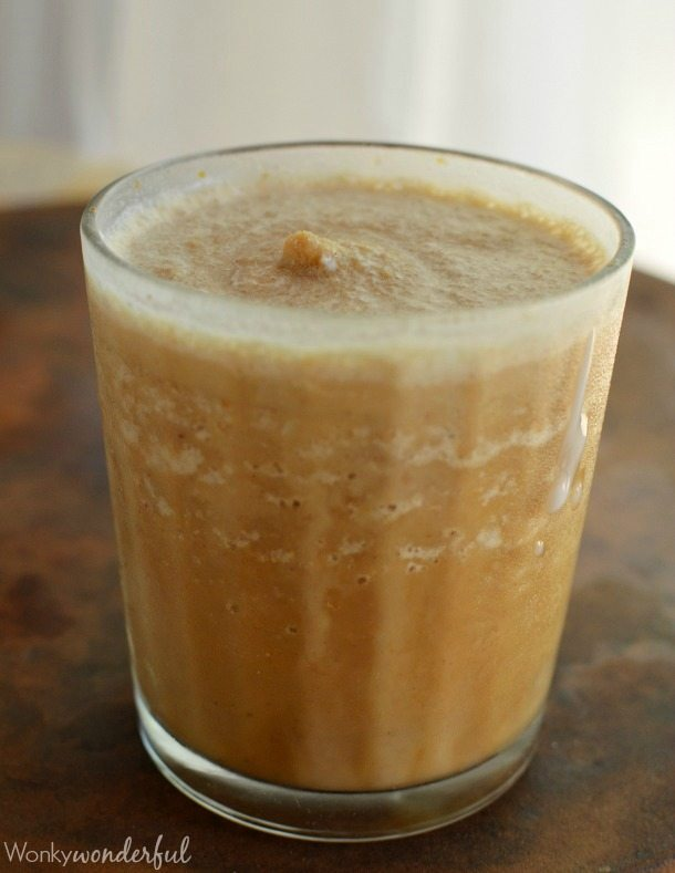 Blended Pumpkin Spice Coffee Recipe - If you enjoy Starbucks Pumpkin Spice Frappuccino, you will LOVE this dairy free, vegan version!