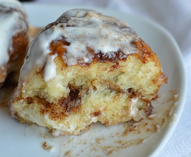Quick and Easy Cheater Cinnamon Rolls made with Sweet Hawaiian Rolls in less than 30 minutes!