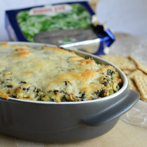Hot Spinach Artichoke Dip Recipe - Appetizer made with spinach, artichokes and cheese!