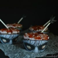 Bloody Zombie Brain Cupcakes