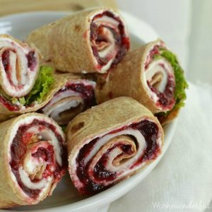 Turkey Roll Ups are a great way to use Thanksgiving leftovers! Made with turkey, cranberry, cream cheese and tortillas. recipe