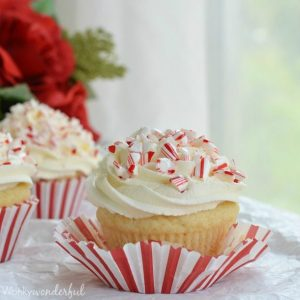 Eggless Cupcakes with Candy Canes