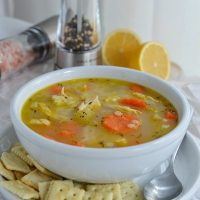 Easy Chicken Soup Recipe with Lemon and Pepper