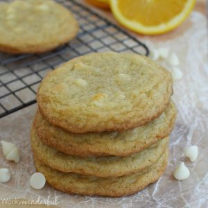 Orange Cream White Chocolate Chip Cookies