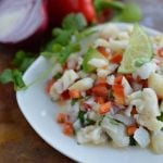 Salted Cod Recipe inspired by a Caribbean favorite (bacaloa). Salt and cod fish combined with fresh ingredients for a unique dish.