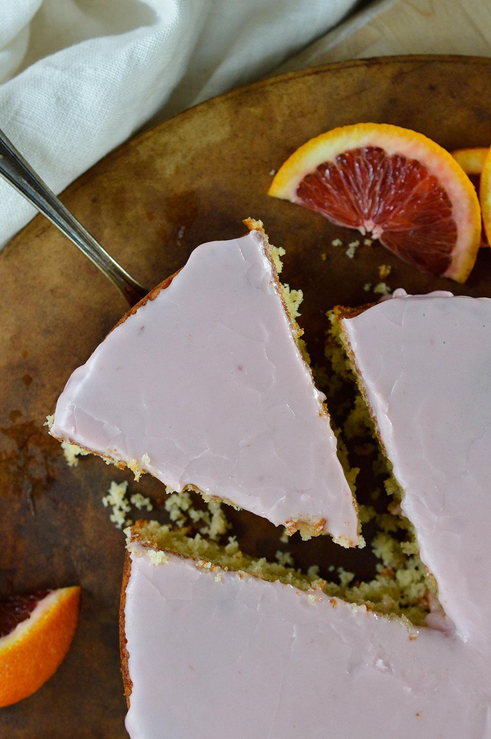 Blood Orange Cake Recipe with Blood Orange Glaze. This easy cake recipe is a beautiful dessert with mild orange flavor.