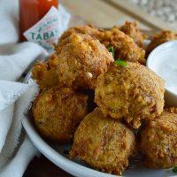 Spicy Cajun Crab Corn Fritters