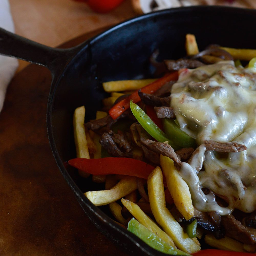 Philly Cheese Steak Fries Recipe