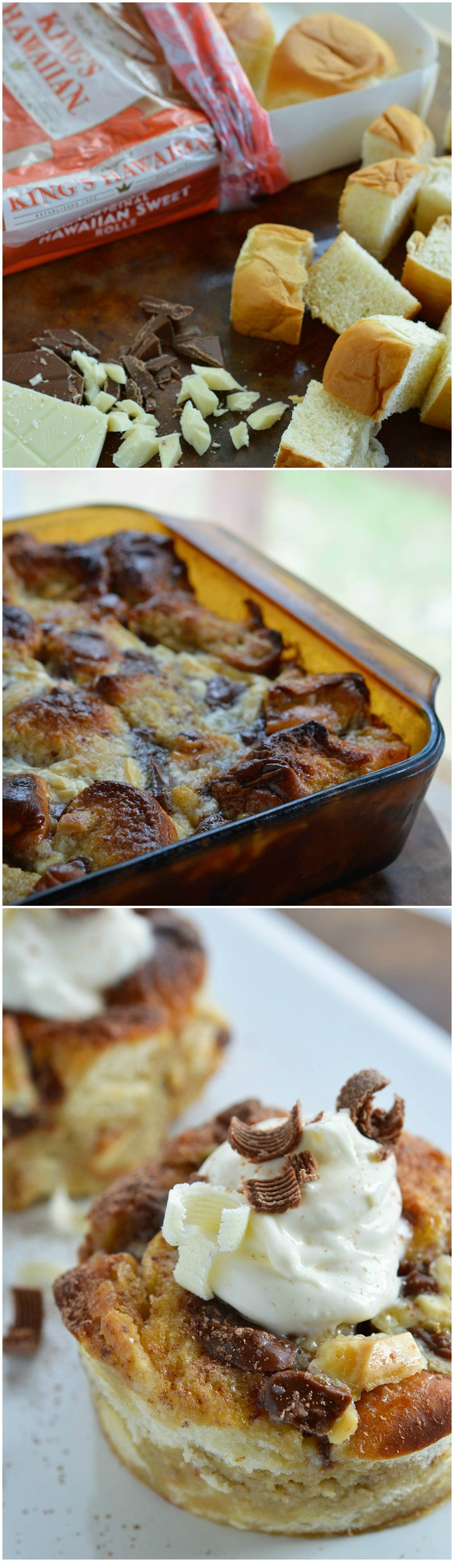 Tiramisu White Chocolate Bread Pudding - WonkyWonderful
