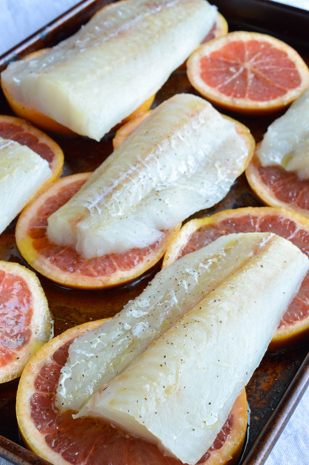 Grapefruit and honey glazed baked cod recipe for Baked cod fish recipes