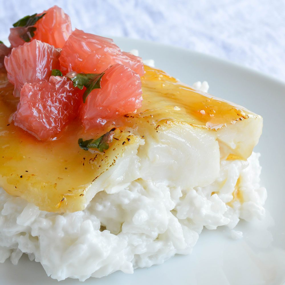 Grapefruit and Honey Glazed Baked Cod Recipe