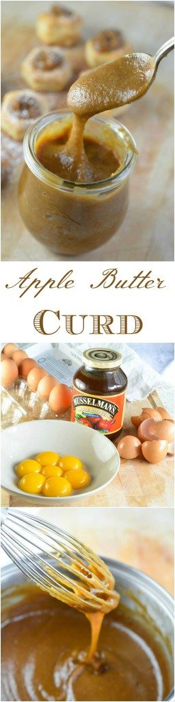 This Easy Apple Curd Recipe makes a cinnamon and apple flavored curd that is perfect for so many desserts! This unique curd is made with apple butter and cinnamon then served in puff pastry cups.