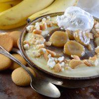 Caramelized Bananas with Homemade Vanilla Pudding