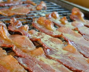 Sriracha and Maple Glazed Oven Baked Bacon
