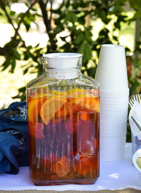 Strawberry Lemonade Sun Tea makes a great summer beverage!